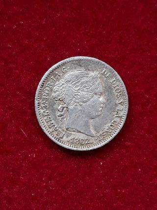 Moneda plata 1 real 1862