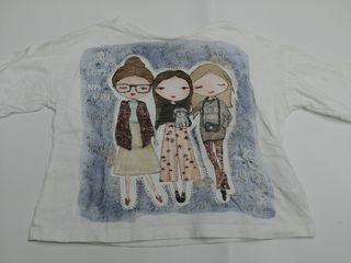 camiseta niña manga larga 4 años Zara