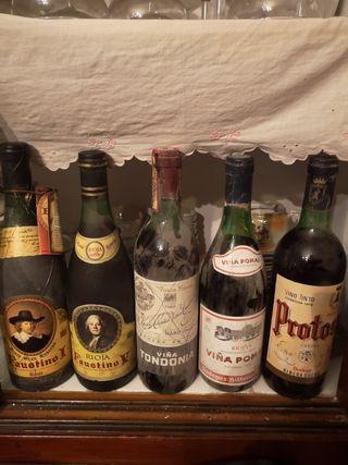 lote de 5 vinos reserva en buen estado