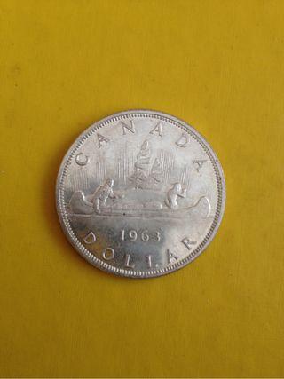 Dólar plata Canada 1963