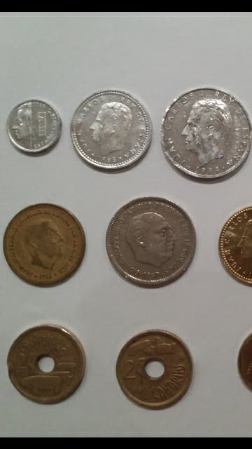 monedas españolas, pesetas