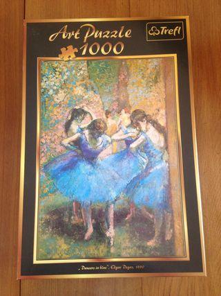 """Puzzle """"Las bailarinas de azul"""" de Degas"""