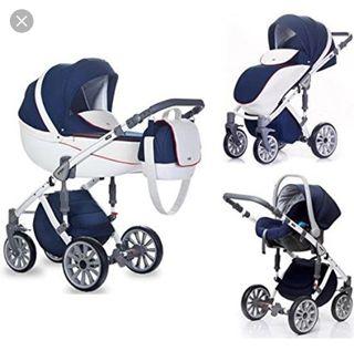 Carrito bebé ANEX Sport Azul y Blanco