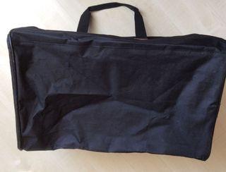Sac noir de voyage finition brun clair toile nylon