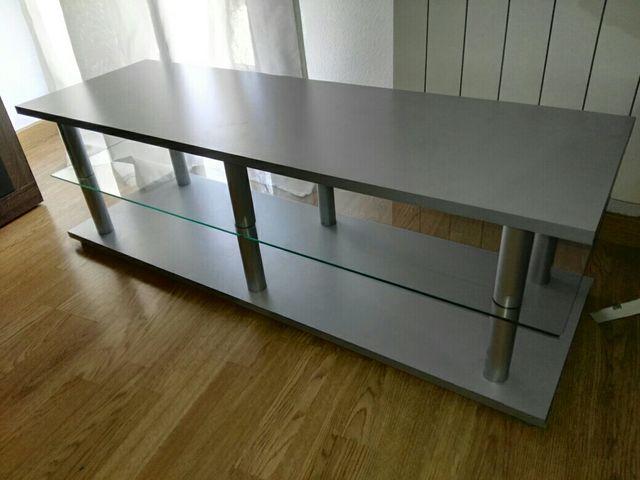 mesa tv cristal