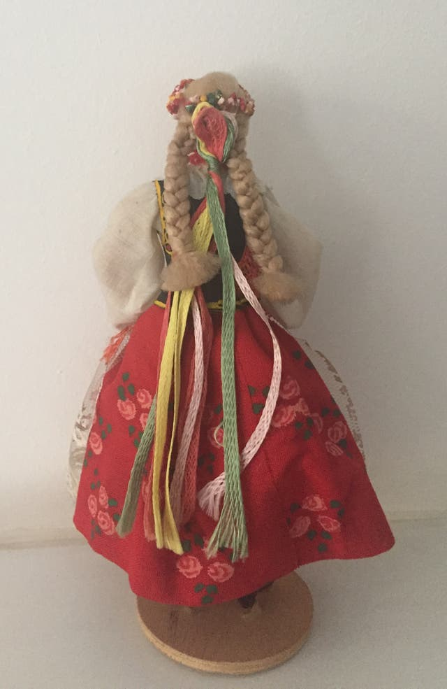 Poupée folklorique Polonaise artisanale vintage70'