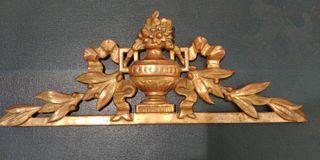 copete madera tallada dorada IMPECABLE!!