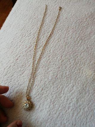 juego de colgante chapado oro