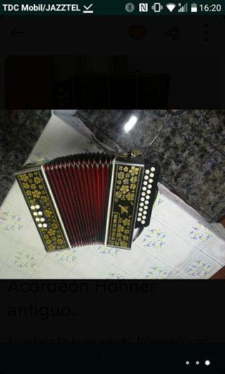 acordeon hohner vintage buen estado