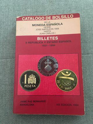 Libro monedas billetes PESETA