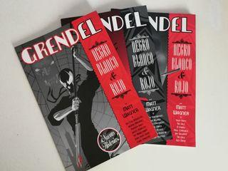 Comic Grendel Negro, Blanco y Rojo de Wagner