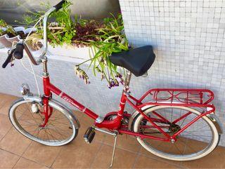 Bici BH roja clasica rueda de 20 pulgadas