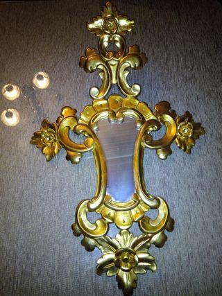 Espejo madera dorada