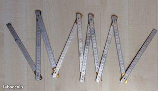 Double mètre pliant MABO Aluminium et laiton