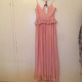 Vestido fiesta juvenil rosa nude