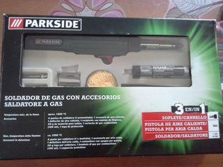 PARKSIDE Soldador de gas con accesorios. 3 en 1