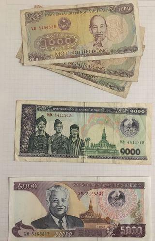 Lote Billetes Asia