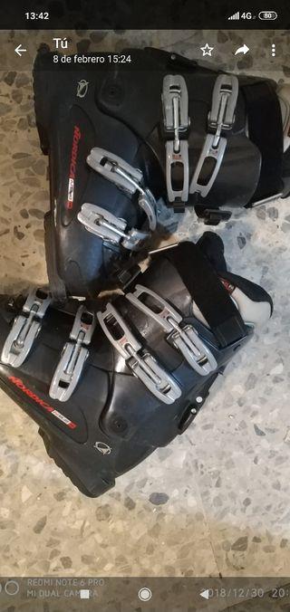 botas de esquiar tecnica