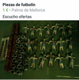 piezas futbolín