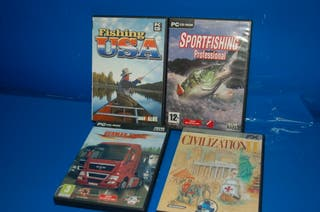 Lote de 4 juegos PC - FISHING USA-GERMAN TRUCK
