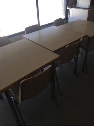 Mesas y sillas restauracion