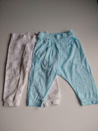 2 pantalones de bebé 6-12 meses