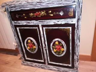 Mueble recibidor entrada vintage de segunda mano por 50 en alcobendas en wallapop - Mueble entrada vintage ...