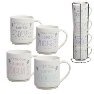 Set de 4 tazas