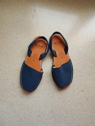 zapatillas menorquinas piel 35