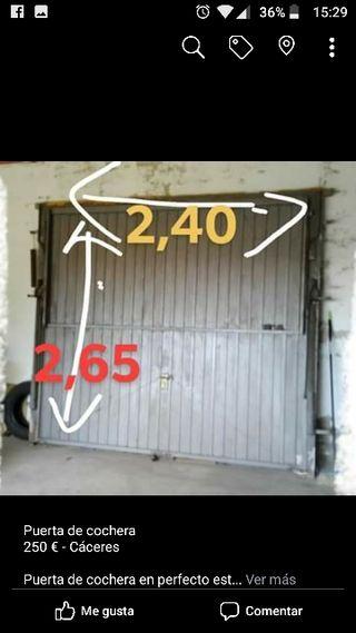 puerta de cochera