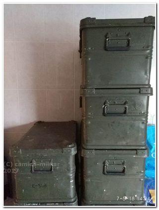 Caja Zarges aluminio Procedencia Militar 60x40x35