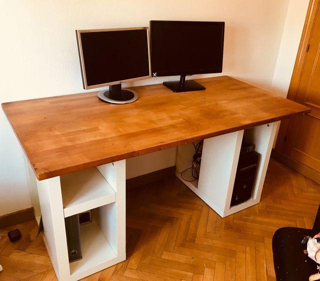 2 Patas mesa oficina con almacenaje IKEA de segunda mano por 20 € en ...