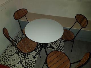 (Mobiliario) mesas y sillas cafeteria