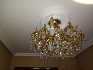 lámpara cristal Swarovski y baño de oro 18kilates