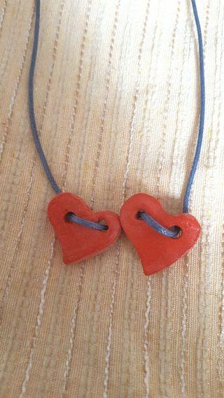 collar corazon artesano.