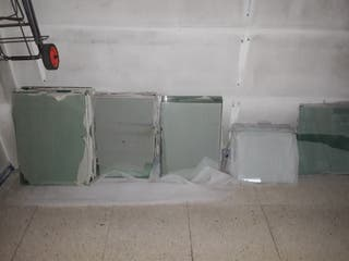 Baldas de cristal transparente