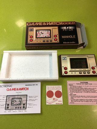 Game watch Manhole gold,juguete antiguo,consola antigua,Nintendo,sega,Bandai,msx,spectrum,amiga