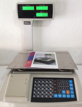 bascula balanza en español nueva ticket p-4 peso