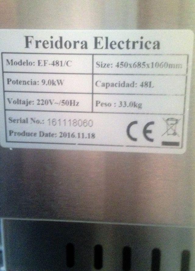 Freidora 48 litros NUEVA con mueble OFERTA