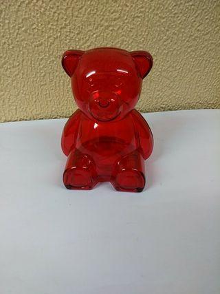 Hucha roja oso , osito. nueva
