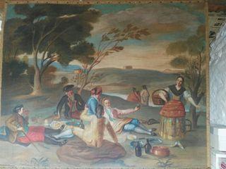 oleo la merienda, Goya, cuadro gran tamaño