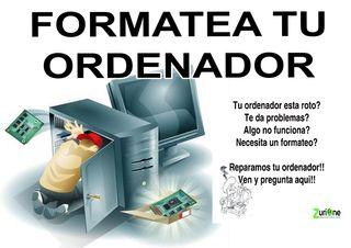 se hacen formateo de ordenadores