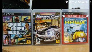 3 juegos ps3 gta v midnight club los angeles hawx