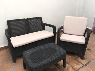 Conjunto de sillones exterior