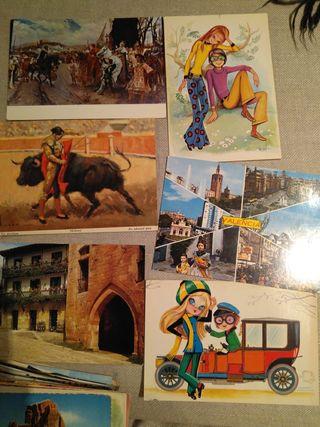 postales coleccionista años 60 y 70