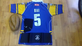 """""""GREAT CONDITION"""" (£30)_(LEEDS RHINOS T-Shirt Sign"""