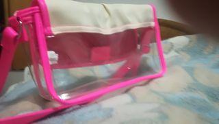 Bolso trasparente color fucsia