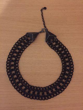 Collar cadena negro