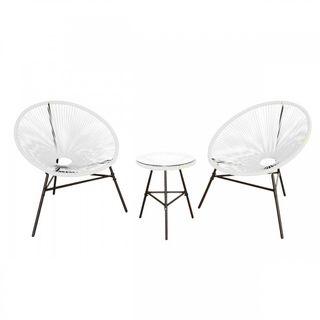 Conjunto de sofá y sillones Blanco