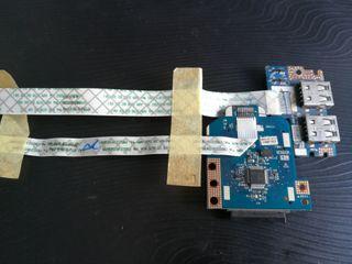 conexion usb y sd para portatil